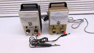 Two Heathkit Vtvms Vacuum Tube Voltmeters Im 18 With Probe And Sm 20a Vtvm