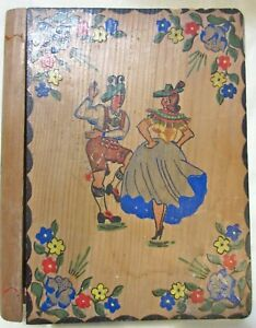 Antique Hand Made Painted Wooden Book Safe Austria Germany Early 1900 S