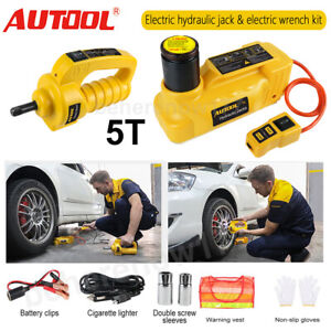 12v Dc Car 5 Ton Hydraulic Electric Jacks And Electric Impact Wrench Van Suv