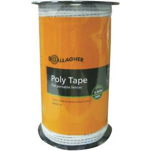White Electric Fence Poly Tape 1 Each