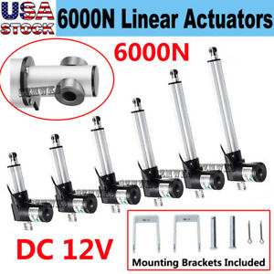 6000n Linear Actuator 12v Dc Electric Motor 1320lbs Auto Lift Window Door Opener