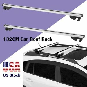 2pcs 48 Car Cross Bars Top Luggage Roof Rack Cargo Carrier Suv Aluminum Lock Be