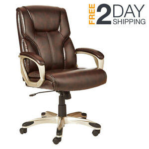 Brown Conference Room Chair Modern Office Meeting Leather High Back Executive