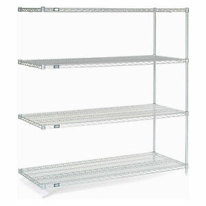 Nexelate Wire Shelving Add on Silver Epoxy 36 w X 18 d X 74 h Lot Of 1