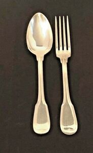 Fiddle Thread Heavy Silverplate Serving Fork Spoon French Origen Nice