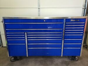Snap On Triple Bank Toolbox With Stainless Top will Ship