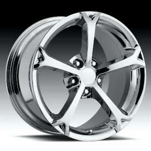 Chrome C6 Gs Grand Sport Style Corvette Wheels 2006 2013 Z06 Gs 18x9 5 19x12
