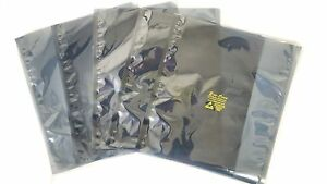 500 Esd Anti static Shielding Bags metal In 4 x6 open top 3 1 Mils