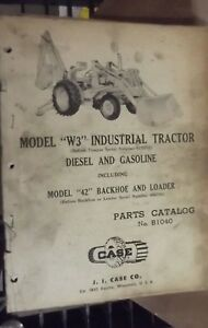 Case W3 Industrial Tractor Parts Catalog