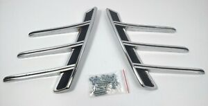 Pair Rear Side Quarter Panel Trim Ornaments For 1966 Ford Mustang