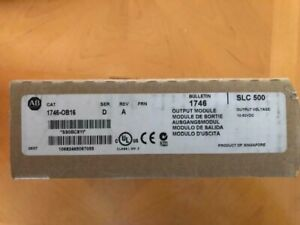 Allen Bradley 1746 ob16 Slc 16 Pt Output Module Ser D Rev A Factory Sealed
