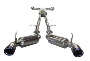 Injen Dual 60mm Ss Cat Back Exhaust W Built In Resonated X Pipe For 03 08 350z