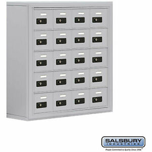 20 Door Cell Phone Storage Locker Surface Mounted 8 d Combo Locks Aluminum
