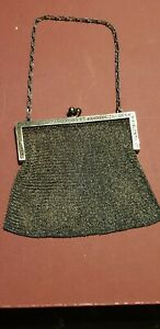 Victorian Carter Hale And Co Sterling Silver Mesh Coin Purse Antique 4 3oz