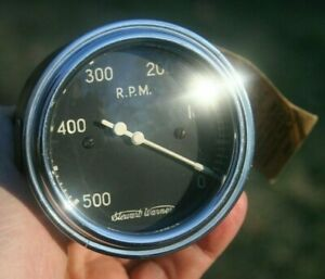 Stewart Warner Mechanical 500 Rpm Tachometer Vintage Curved Glass Model 770d