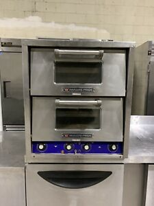 Bakers Pride P 44s Double Stone Deck Pizza Oven Countertop Electric