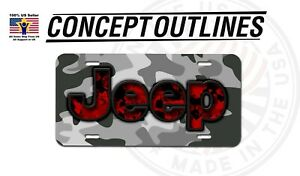 Jeep Camouflage Aluminium License Plate Tag Custom For Car Room T Jeep 5