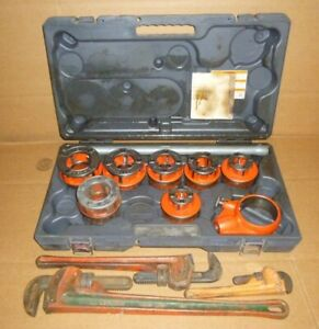 7 Ridgid 12r Dies Handle die Head case pipe Threader 3 Pipe Wrench 1 2 To 2
