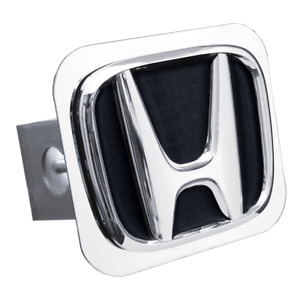 Black Honda Emblem Tow Hitch Cover licensed Stainless Steel 1 25 Trailer Plug