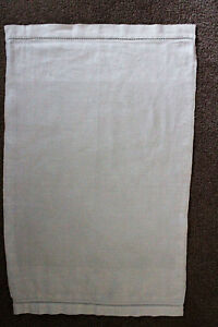 Vintage Off White Hand Towel Cloth With Embossed Design On Edges