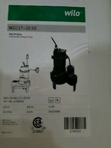 Wilo 2708302 Wcc17 20 50 Effluent Sump Pumps