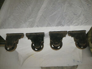 Vintage Industrial Factory Cart Cast Iron Wheel Casters Heavy Duty Very Nice