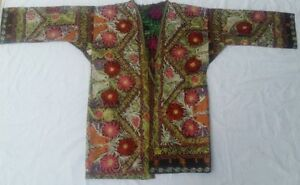 C 243 Chapan Made From Uzbek Cotton Vintage Suzani From 80 S