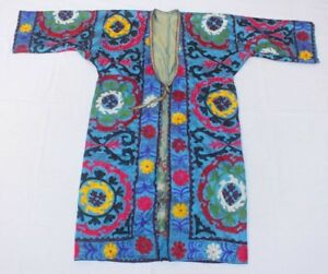 C 040 Great Chapan Made From Uzbek Nice Silky Suzani From 80 S