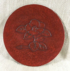 Japanese Lacquer Ware Plate Dish Signed Traditional Hand Carved Wooden Signed