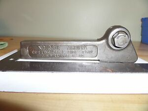 J h Williams No 23 r Agrippa Cutting off Side Parting Tool South Bend Logan D53