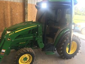 Reduced 2015 John Deere 3033r Cab And Loader 262 Hours Compact Tractor Hst