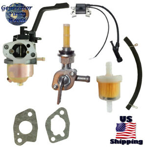 Champion Cpe Carburetor W Right Petcock Coil For 100210 100215 4750 Generator