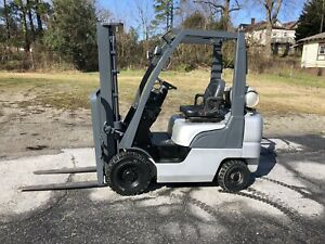 2006 Nissan 4000 Forklift Solid Pneumatic Tires 2 Stage Lp Gas 4200 Hours