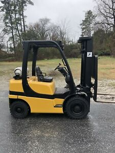 2006 Yale 5000 Forklift Solid Pneumatic Tires 3 Stage Lp Glp050 Sideshifter