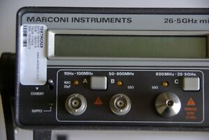 Marconi Instruments Mcirowave Counter 2442 26 5 Ghz