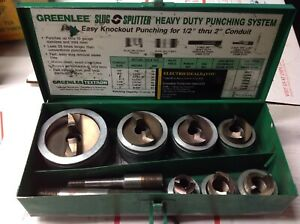 Greenlee Slug splitter 7307 Stainless Steel Knockout Punch Set 1 2 2 7136