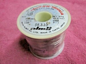 Almit Solder Japan Kr 19rma Very Thin 0 015 Dia 1 1 Lb Sn63 pb37 Resin Flux Nos