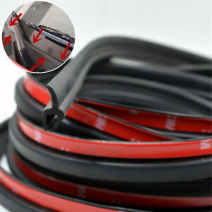 1 8m Rubber Car Glass Panel Seal Front Or Rear Windshield Moulding Strip W Tape