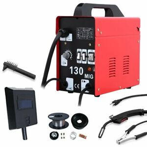 Mig 130amp Welder Flux Core Wire Automatic Welding Machine W Free Mask Be