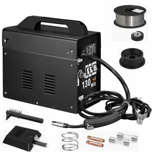 Portable Flux Core Wire Gas Gasless Mig 130 Amp Welder Machine 110v Tool Be