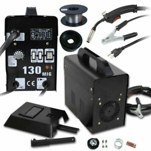 Mig 130 Welding Machine Gas Less Flux Core Wire Home Welder Automatic Feeding Be