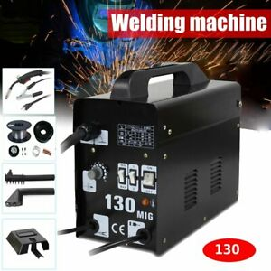 Mig130 Gas less Flux Core Wire Feed Welder Welding Machine W free Mask 110v Be