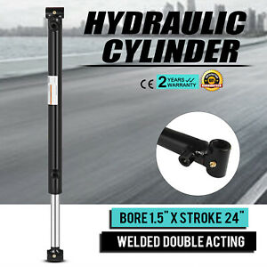 Hydraulic Cylinder 1 5 Bore 24 Stroke Double Acting Suitable 3000 Psi Top
