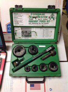 Excellent Greenlee Slugbuster 7238sb 1 2 2 Wratcheting Knockout Punch Set 7137