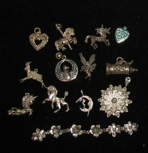 Sterling Silver Lot Of Charms Not Junk