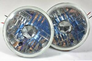7 Round H6024 Chrome Clear Projector Sealed Beam Headlights Conversion