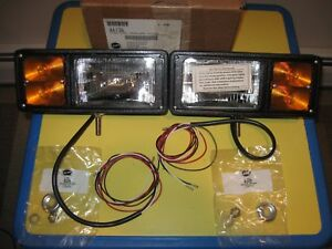 Western Fisher Conventional old School 4 wire Snow Plow Lights New In Box