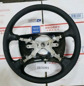 1998 1999 2000 2001 Dodge Ram Truck Factory Leather Steering Wheel Slt Black Oem