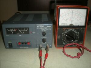 Extech 382203 Dc Regulated Analog Power Supply 0 30vdc Tests Ok As Shown