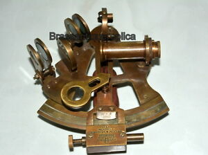 34 Brass Nautical Antique Sextant Kelvin And Hudges London Coffee Antique